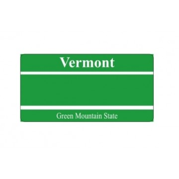 Design It Yourself Custom Vermont State Look-Alike Plate
