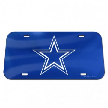 Dallas Cowboys Blue Crystal Mirror Laser License Plate