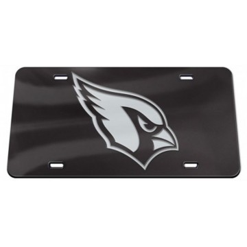 Arizona Cardinals Black Crystal Mirror Laser License Plate