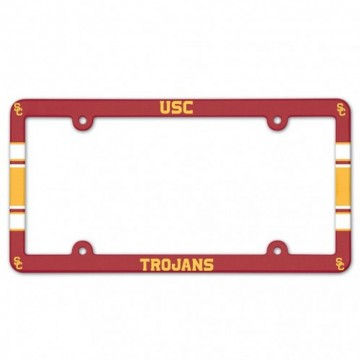 USC Trojans Full Color Plastic License Plate Frame
