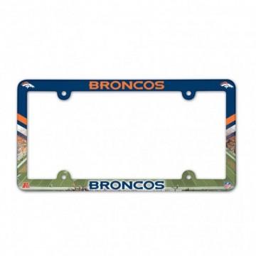 Denver Broncos Full Color Plastic License Plate Frame