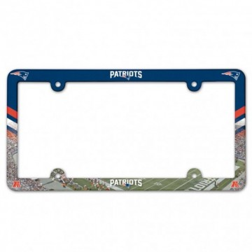 New England Patriots Full Color Plastic License Plate Frame
