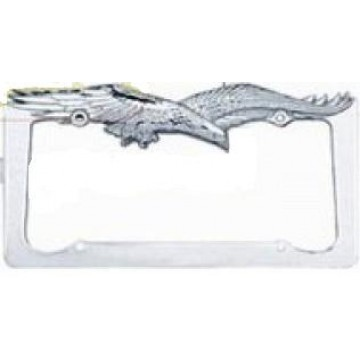 Chrome Eagle License Plate Frame