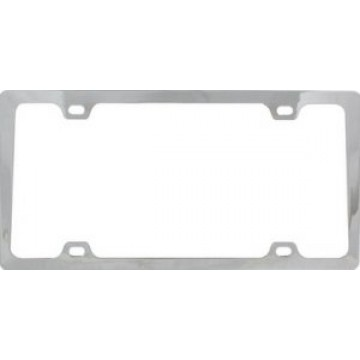 4 Hole Slim Chrome License Plate Frame