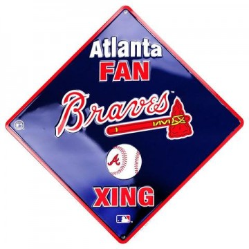 Atlanta Braves Xing Metal Parking Sign