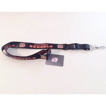 Cincinnati Bengals Black Lanyard With Safety Fastener