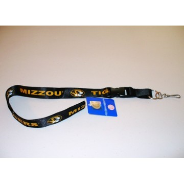 Missouri Tigers Black Lanyard With Safety Fastener