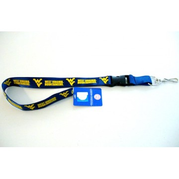 West Virginia Mountaineers Blue Lanyard With Safety Fastener