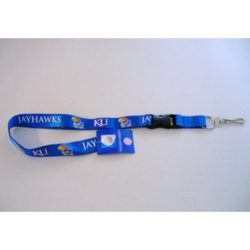 Kansas Jayhawks Blue Lanyard With Safety Fastener