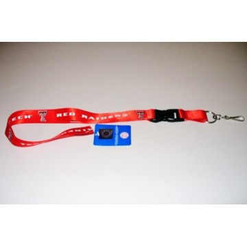Texas Tech Red Lanyard With Safety Fastener