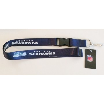 Seattle Seahawks Blue Lanyard With Safety Latch