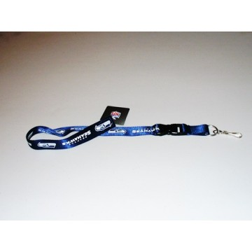 Seattle Seahawks Blue Lanyard With Safety Fastener