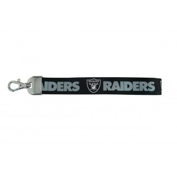 Oakland Raiders Black Wristlet Lanyard