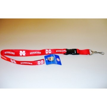 Nebraska Cornhuskers Red Lanyard With Safety Fastener