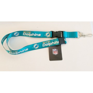 Miami Dolphins Aqua Green Lanyard With Safety Latch