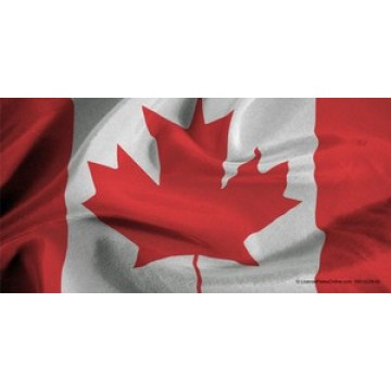 Canadian Flag Photo License Plate