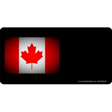 Canadian Flag Offset Photo License Plate