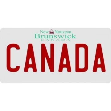 Canada New Brunswick Photo License Plate