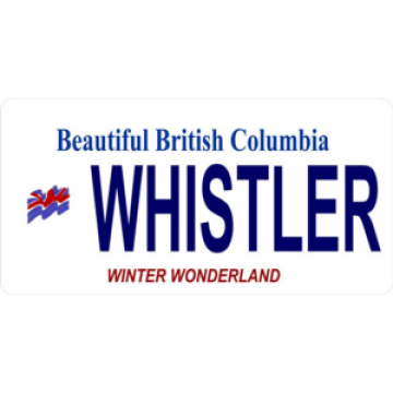 British Columbia Whistler Photo License Plate