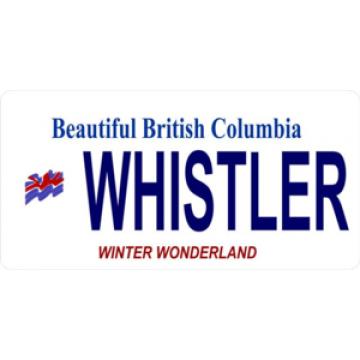 British Columbia Whistler Photo License Plate