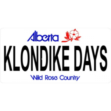 Alberta Klondike Days Photo License Plate