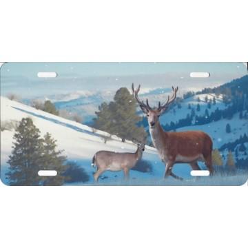 Deer Airbrush License Plate