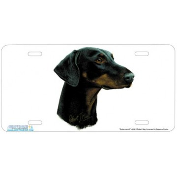 """Dobermann II"" Dog License Plate"