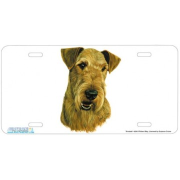 """Airedale"" Dog License Plate"