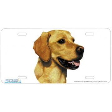 """Golden Retriever"" Golden Labrador Retiever Dog License Plate"
