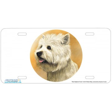 """West Highland Terrier"" Dog License Plate"
