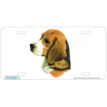 """Beagle"" Dog License Plate"