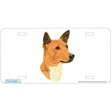 """Basenji"" Dog License Plate"