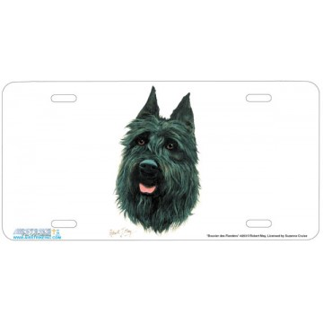 """Bouvier des Flanders"" Dog License Plate"