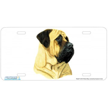"""Mastiff"" Dog License Plate"