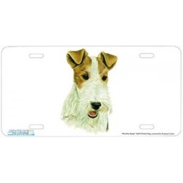 """Wire Fox Terrier"" Dog License Plate"