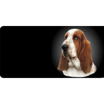 Basset Hound Dog Photo License Plate