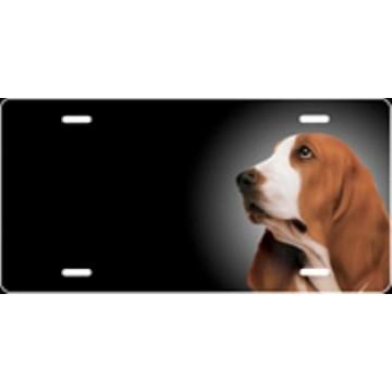 Basset Hound Dog Airbrush License Plate
