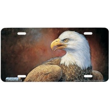 Bald Eagle Airbrushed License Plate