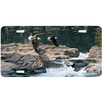 """Spirit of McDonald Creek"" Eagle License Plate"