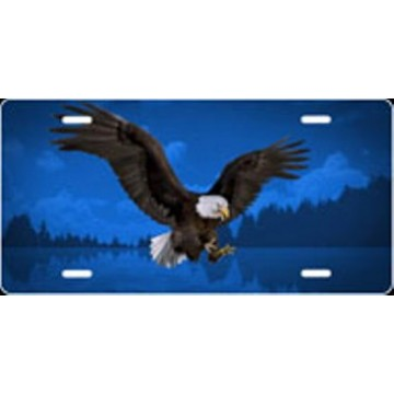 Eagle Blue Airbrush License Plate