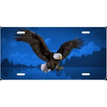 Eagle Blue Airbrush License Plate