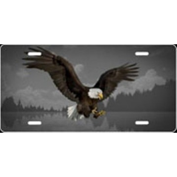 Eagle Grey Airbrush License Plate