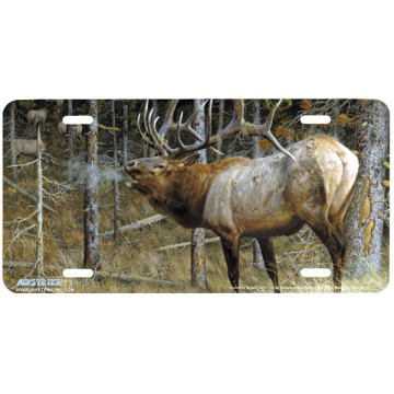 """Hunters Dream"" Elk License Plate"