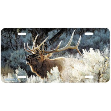 """Indian Summer"" Elk License Plate"