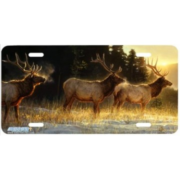 """Elk Ridge"" Elk License Plate"