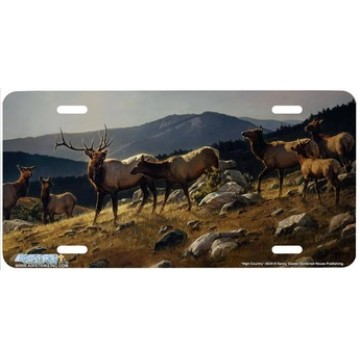"""High Country"" Elk License Plate"