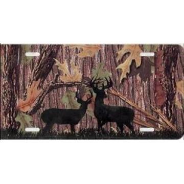 Camo Deer License Plate
