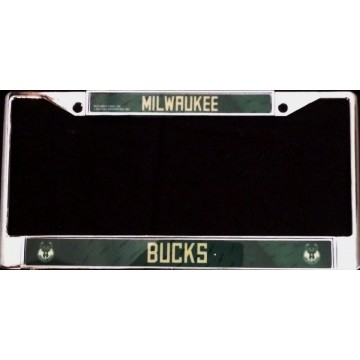 Milwaukee Bucks Chrome License Plate Frame