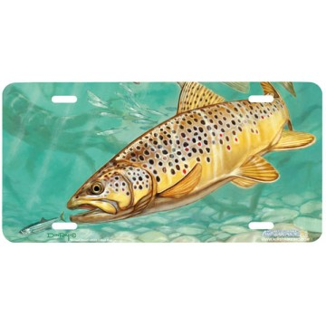 """""""Brown Trout"""" License Plate"""