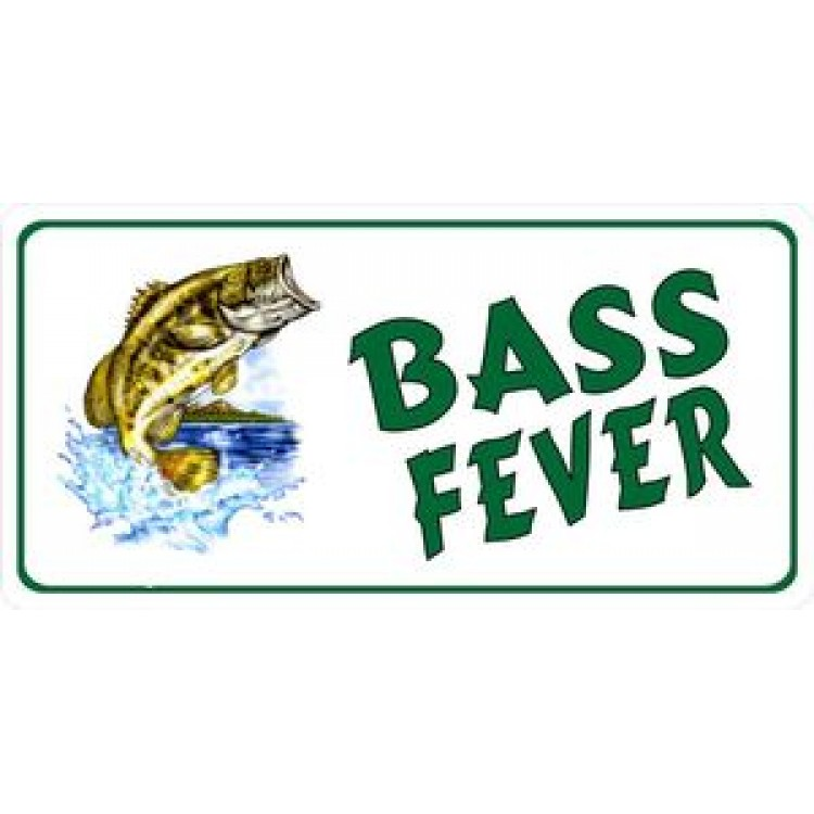 Bass Fever Photo License Plate